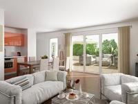Eden Parcs : Séjour moderne donnant sur une agréable terrasse