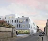 Juste une question de feeling : Immeuble couvert de petites briques blanches