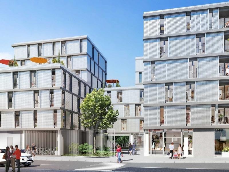 Inspirations : Immeubles modernes couverts d'un enduit clair