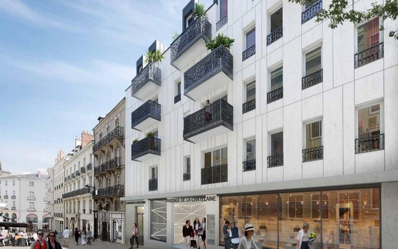 Jardin de la Châtelaine : Immeuble aux lignes architecturales traditionnelles