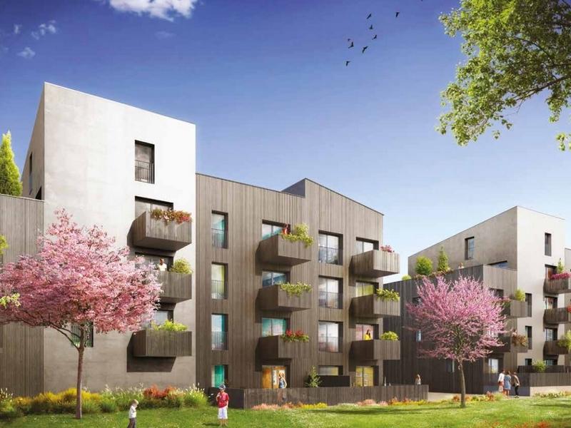 Edenwood : Plusieurs immeubles couverts d'un enduit blanc et gris