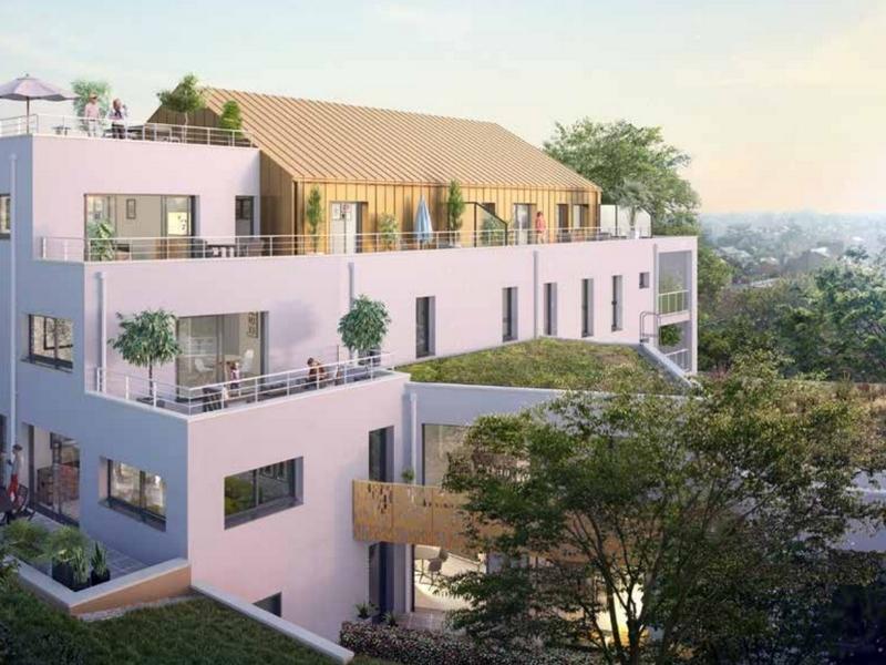 La Petite Olympe : Immeuble moderne avec enduit blanc en façade