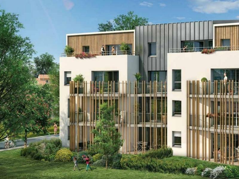 Vergers de Loire : Immeubles modernes avec façades couvertes d'un enduit fait en bois