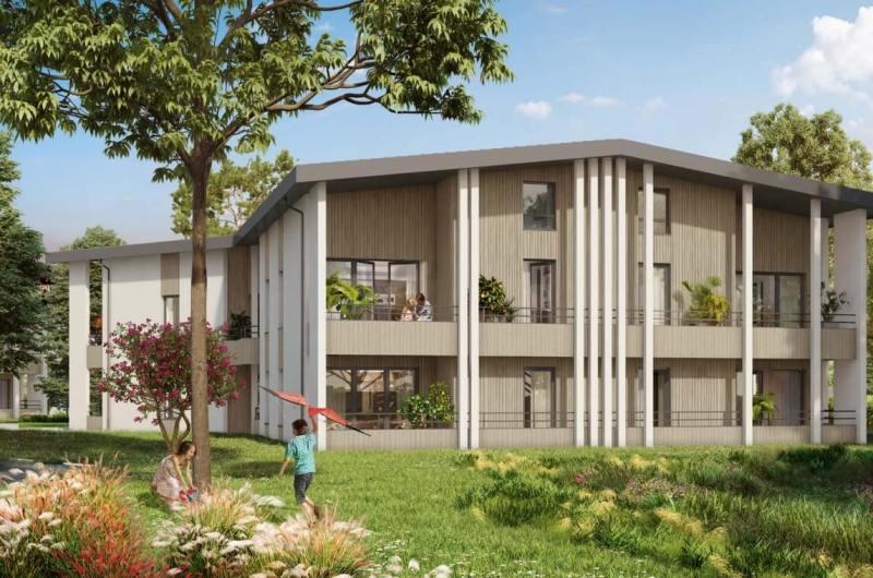 Jardins de Margaux : Immeuble contemporain avec façades faites en bois