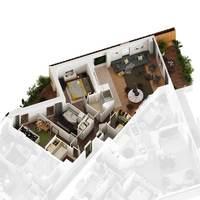 Tour Silva : plan 3D d'un T4