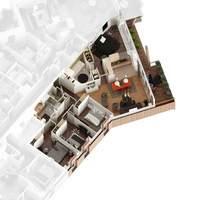 Tour Silva : Plan 3D d'un T5