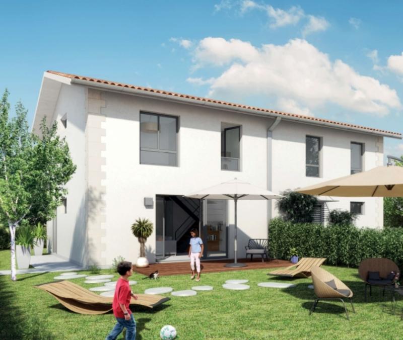 Maison contemporaine construite en duplex