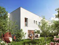 Maison mitoyenne duplex ouverte sur un jardin