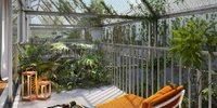 Ekko : Terrasse offrant un point de vue sur les espaces végétalisés de la résidence