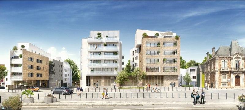 Carré Daviais : Immeubles modernes et couverts d'un enduit blanc