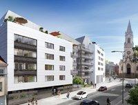Carré Daviais : Immeuble moderne couvert d'un enduit blanc
