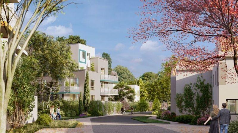 6ème sens : Immeubles modernes entourés d'espaces de verdure