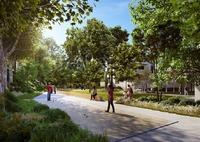 6ème sens : Terrain de pétanque entouré d'espaces de verdure