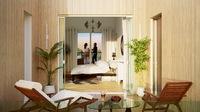 Edouard VII : Vu d'une terrasse donnant sur l'intérieur du logement