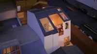 Edouard VII : Vu aérienne sur une terrasse de nuit