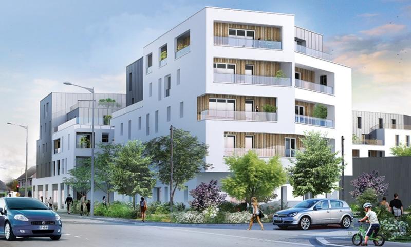 Connexion : Immeuble contemporain avec façade de couleur blanche et grise