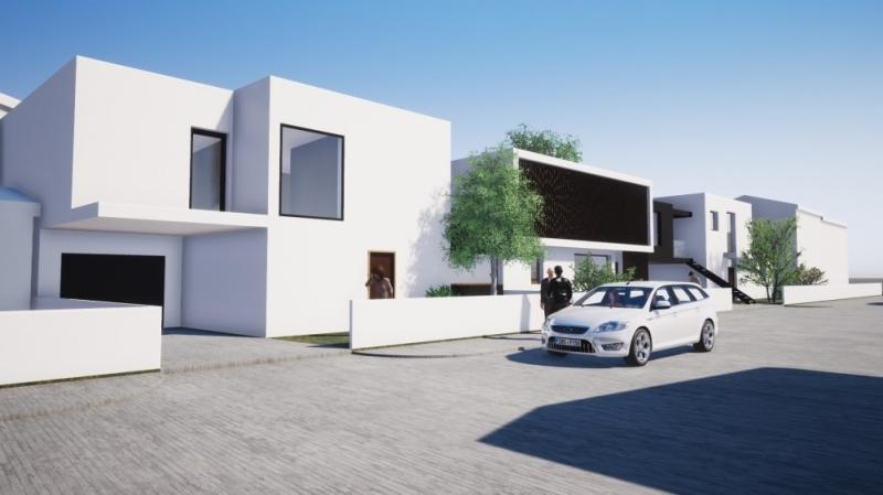 Villas contemporaines de couleur blanche