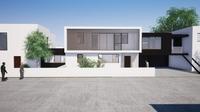 Devanture d'une villa contemporaine