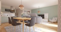 Balcons Caffarelli : Salle à manger spacieuse avec parquet