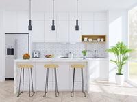 Cap Horizon : Cuisine parfaitement aménagée avec salle à manger