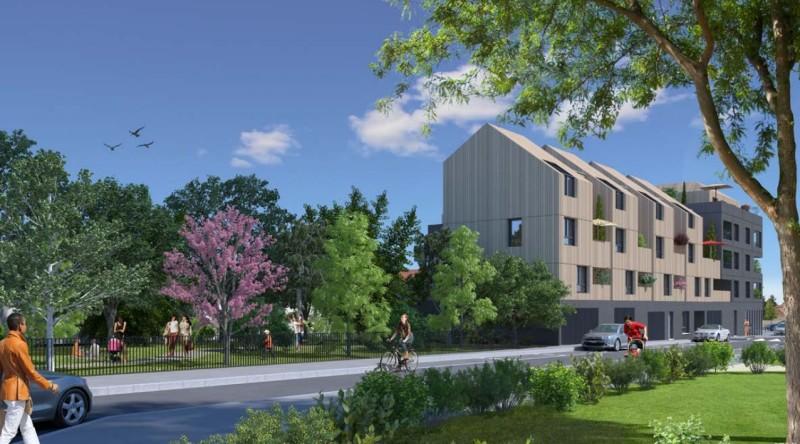 Ginkgo : Immeuble contemporain avec façades en bois