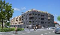 Ginkgo : Immeuble moderne situé en bord de route et construit sur 4 étages