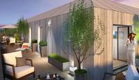 Ginkgo : Terrasse avec dalles sur plot et à ciel ouvert