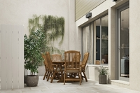 Rue Prunier : Terrasse avec mur végétal et dalles