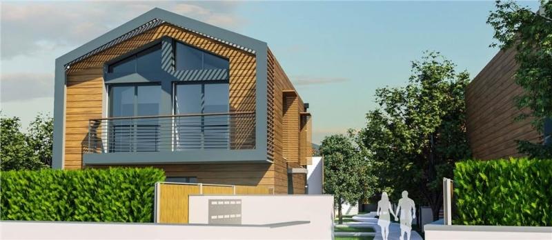 Patio de la Romane : Maisons duplex avec balcon et construit en bois