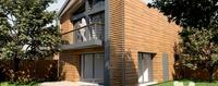 Patio de la Romane : Villa contemporaine avec façade en bois