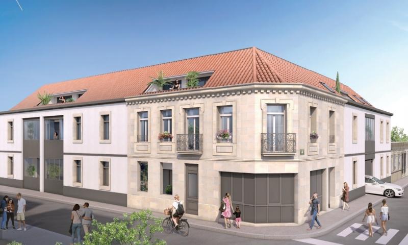 Etoile d'Hugo : Immeuble d'un étage avec pierres blondes