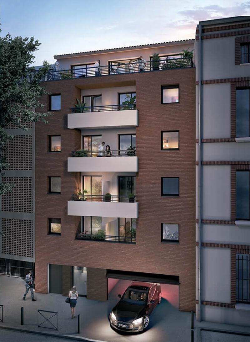 Villa Caffarelli : Immeuble aux codes architecturaux toulousains