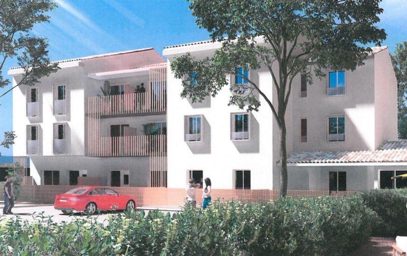 Clos des Pins : Immeubles modernes et blancs construit sur 2 étages