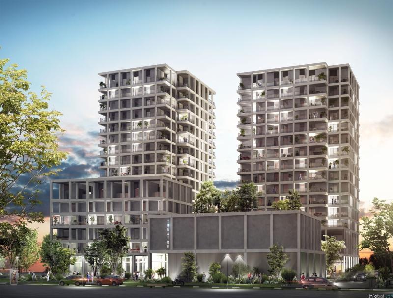 Loire en Scène : Immeuble contemporain construit sur 15 étages