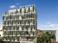 Cymea : Immeuble avec parement couvert de verdure