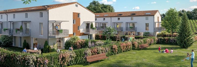 Domaine de Lalande : Deux bâtiments entourés d'espace de verdure