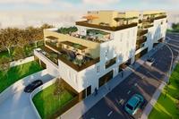 Gavarnie : Vue aérienne sur un immeuble contemporain