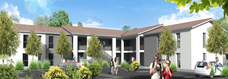 Clos de Canterane : Immeubles construits en R+1 et aux codes architecturaux contemporains