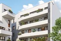 Ô Georgia : Deux immeubles modernes couvert d'un enduit blanc
