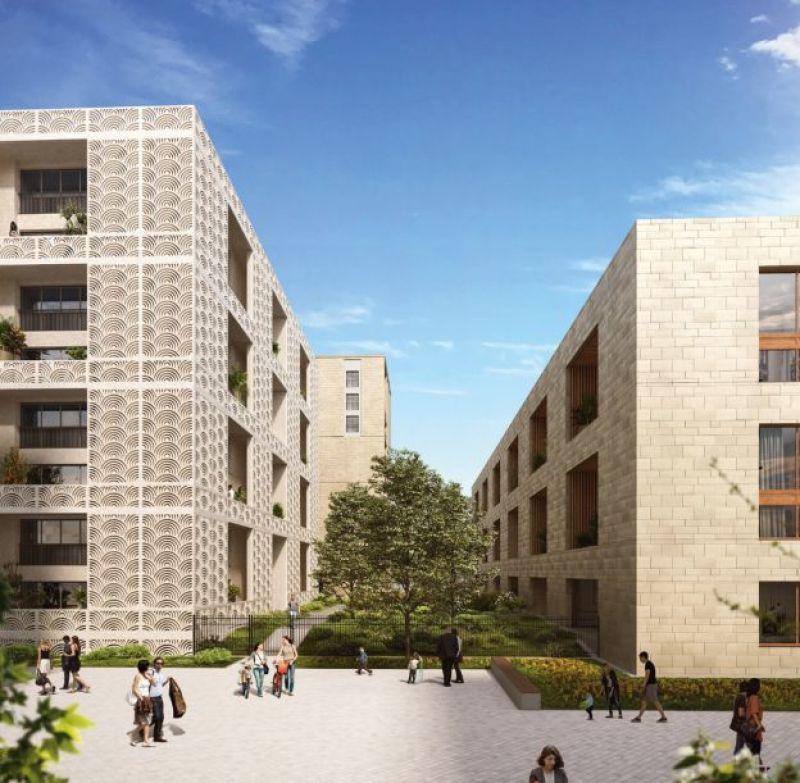 Passages Saint-Germain : Une allée piétonne entourée d'immeubles contemporains