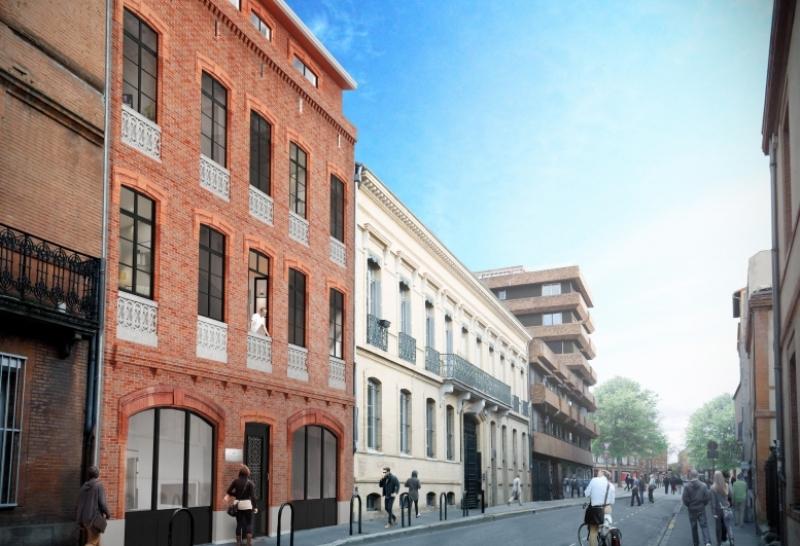 Castilhon : Immeuble aux codes architecturaux toulousains