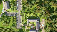 Abbaye de Bonlieu : Vue aérienne 3D