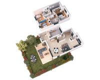 Villa 56 : Vue 3D intérieur
