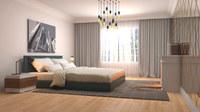Villa 56 : Chambre avec revêtement stratifié